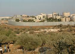 Modern-Day Bethlehem and the West Bank wall