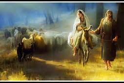 Mary and Joseph Journeying to Bethlehem