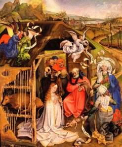 """Birth of Christ"", Robert Campin, c. 1425-1430"