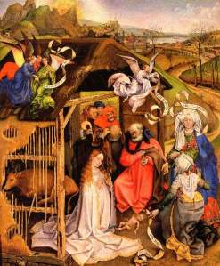 """Birth of Christ"", Robert Campin, c. 1425-1430"