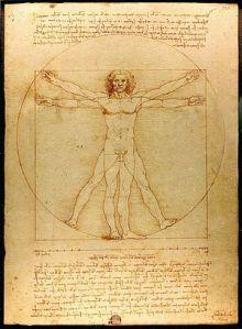 Vitruvian Man, Leonardo da Vinci, c. 1490.