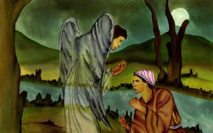 Jacob Wrestles with Angel