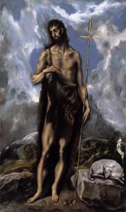 """""""St. John the Baptist"""", El Greco, c. 1600."""